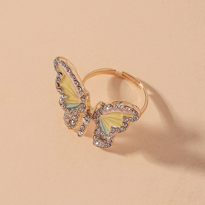 simple diamond butterfly opening ring NHNJ316547