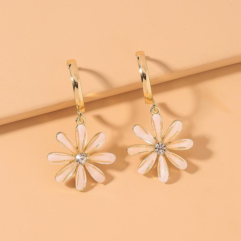 adorables petites boucles d39oreilles fleur marguerite NHNJ316557