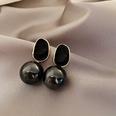 NHNJ1455986-Silver-Post-Black-Pearl-Earrings