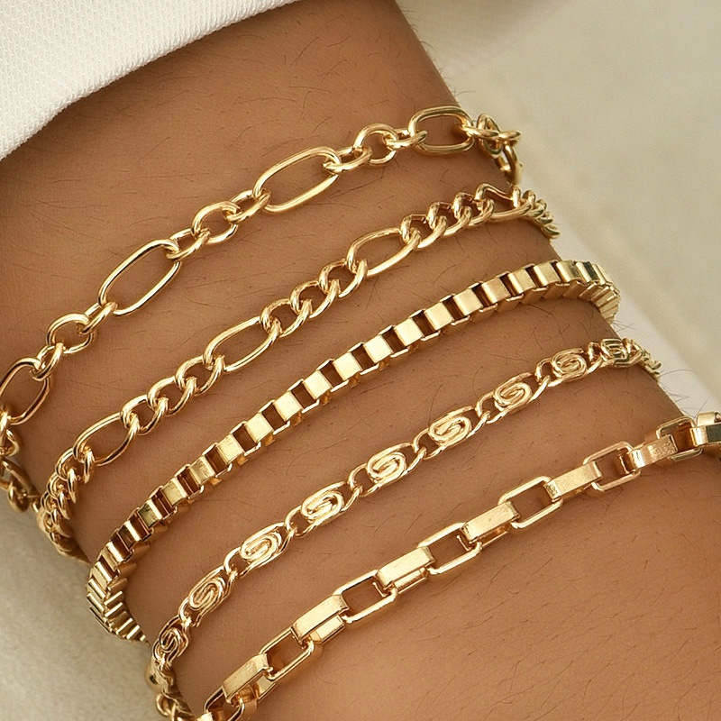 Fashion moon bracelets fivepiece set NHAJ316598
