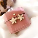 925 silver needle starfish pearl stud earrings  NHQC316589