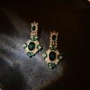 Baroque 925 Silver Needle Pearl Diamond Earrings  NHQC316587