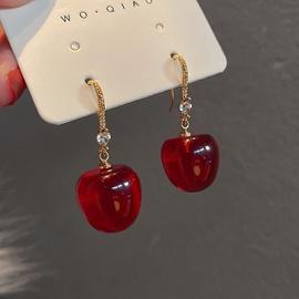 Fashion Diamond Red Cherry Ohrringe NHQC316586