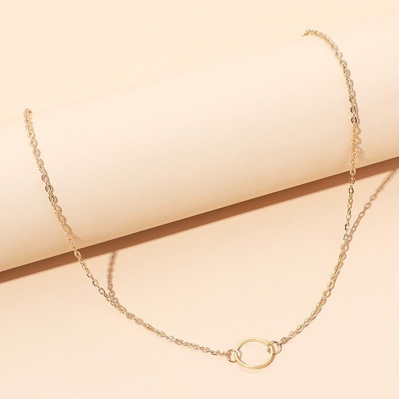Fashion simple geometric necklace NHRN316609