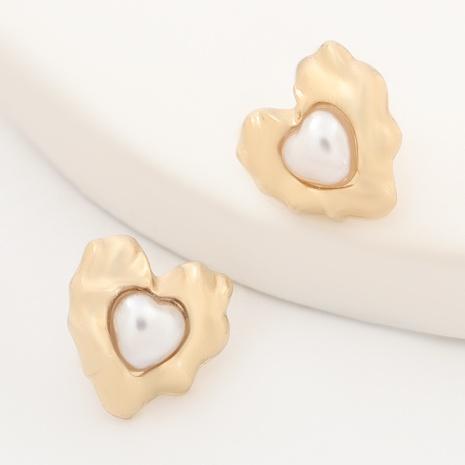 herzförmige Ohrringe aus Aluminiumperlen NHJE316615's discount tags
