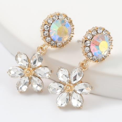 acrylic diamond flower earrings NHJE316618's discount tags