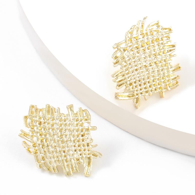 Fashion mesh alloy earrings NHJE316619