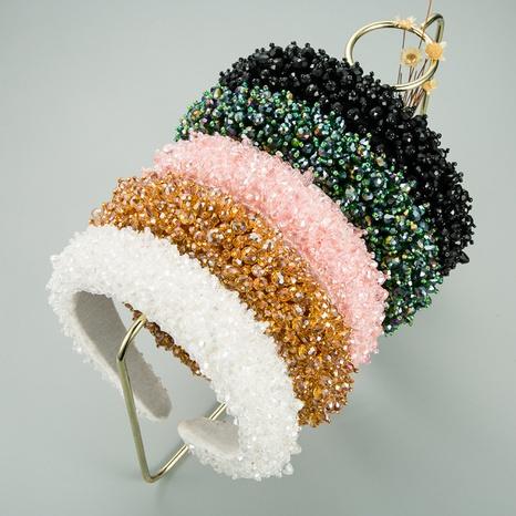 Baroque full crystal headband NHLN316627's discount tags