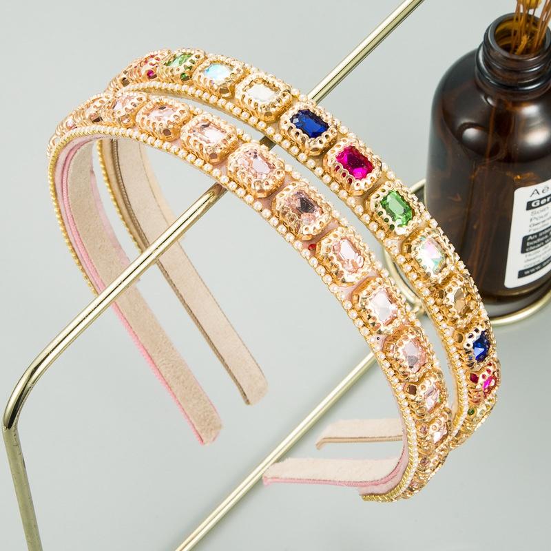 Baroque simple pink cute headband NHLN316628
