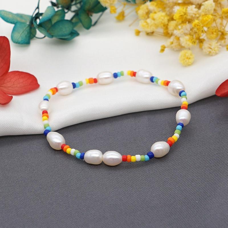 creative bohemian rainbow bracelet  NHGW316631