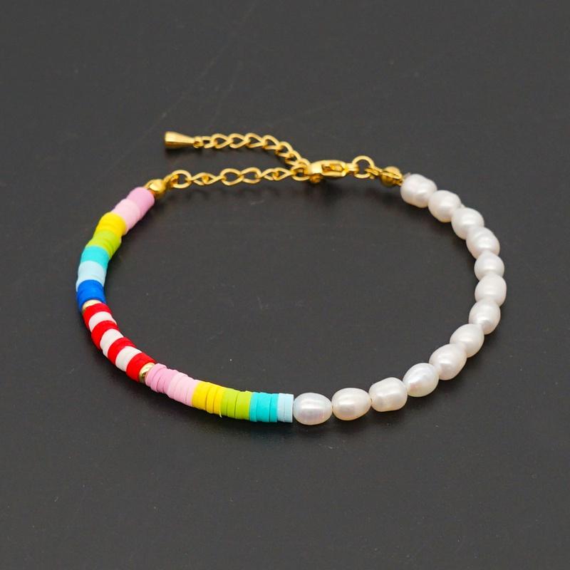 Creative boho freshwater pearl beaded bracelet NHGW316635