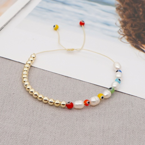Kreative Mode Barock Perle bunte Glas Augen Perlen Armband NHGW316629's discount tags