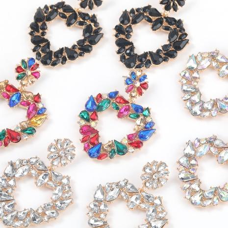alloy acrylic heart-shaped flower earrings NHJE316651's discount tags