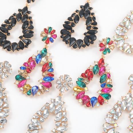 alloy acrylic drop-shaped flower earrings NHJE316652's discount tags