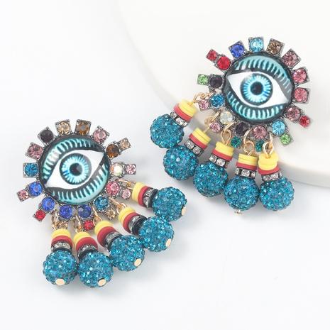 Augenohrringe aus legiertem Diamantharz NHJE316656's discount tags