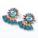 alloy diamond resin eyes earrings NHJE316656