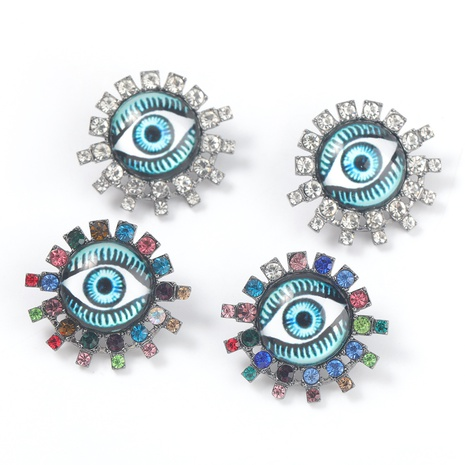 retro alloy resin eyes earrings  NHJE316657's discount tags