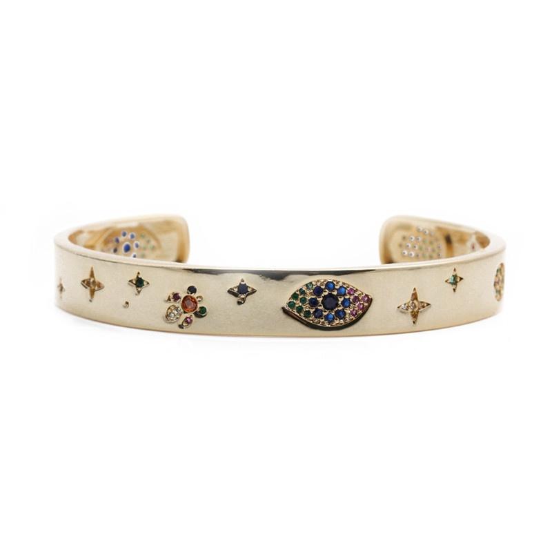 New fashion zircon Devils eye palm bracelet NHYL316673