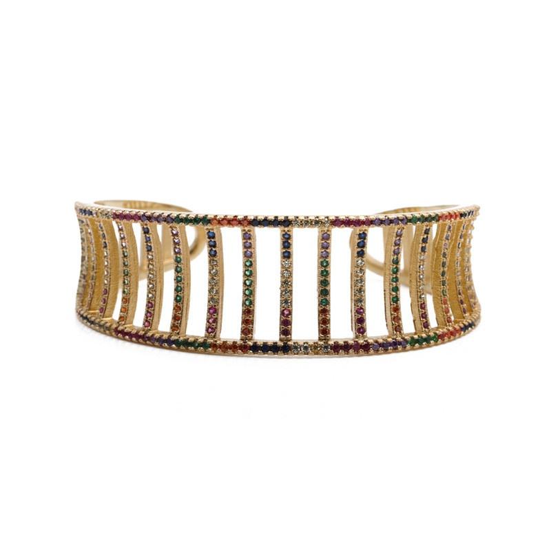 new simple geometric copper bracelet  NHYL316676