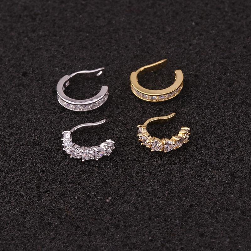 new simple U-shaped zircon ear bone clip NHEN316678