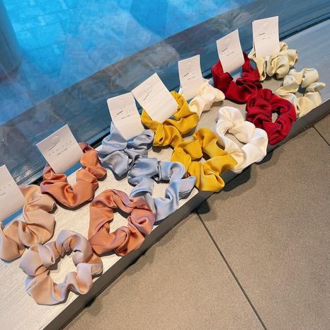 Korean fashion simple hair scrunchies NHHD316685's discount tags