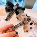Pince  cheveux strass  double rang  pois rtro NHHD316680