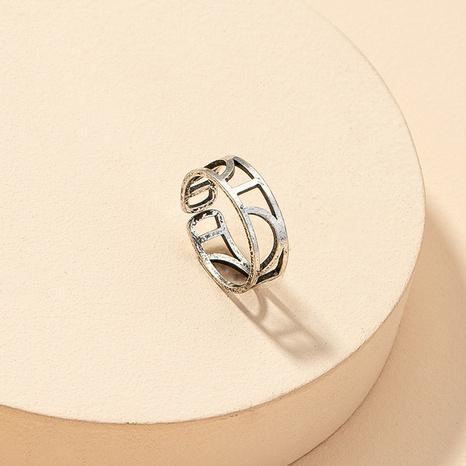 Mode hohl geometrischen Retro-Ring NHGU316689's discount tags