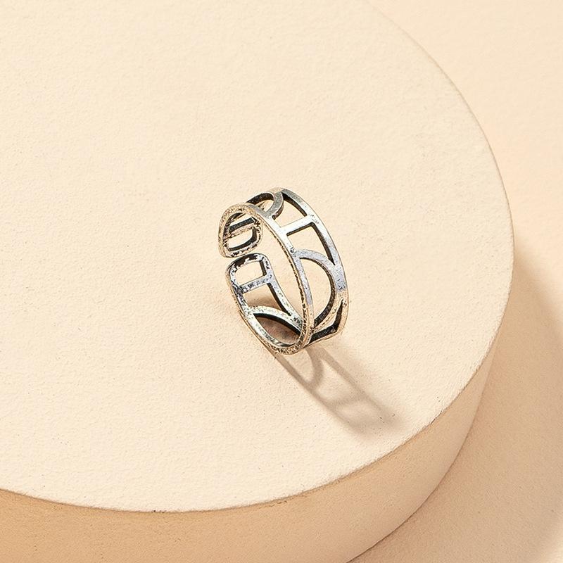 fashion hollow geometric retro ring  NHGU316689