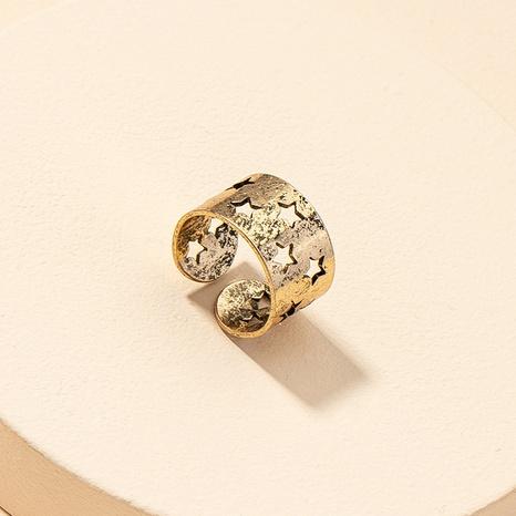 Mode hohlen Fünf-Sterne-Ring NHGU316691's discount tags