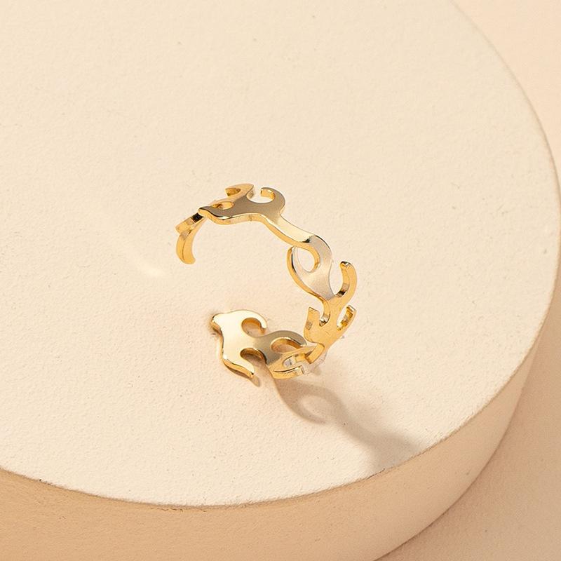fashion fire-shaped fun open ring NHGU316693