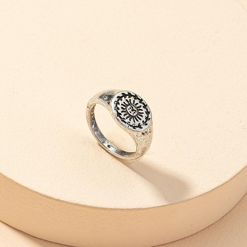 fashion sun flower retro ring NHGU316695