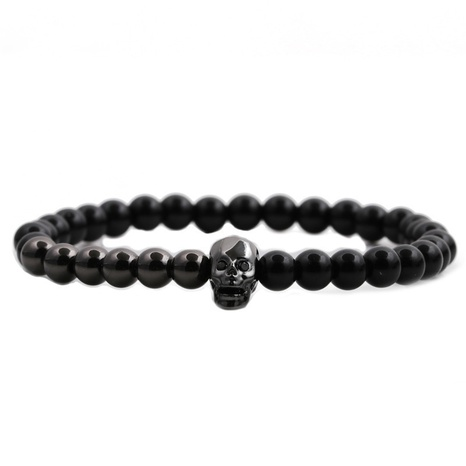fashion new Skull Demon Eyes Beaded Bracelet NHYL316709's discount tags
