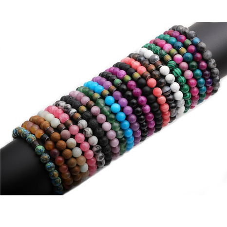 creative 8mm beaded stone temperature change color bracelet NHYL316716's discount tags