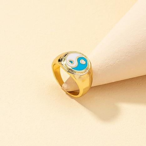 neuer herzförmiger Retro-Ring mit mehrfarbigem Tropföl aus Tai Chi NHQJ316719's discount tags