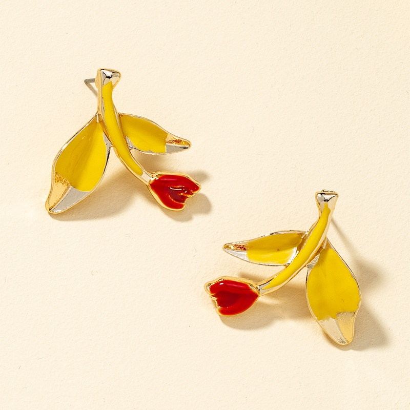 simple fashion retro flower earrings  NHQJ316724