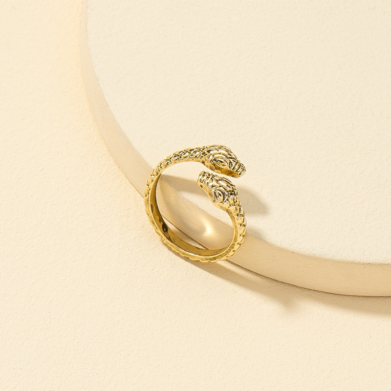 new simple zodiac retro snake ring NHQJ316729
