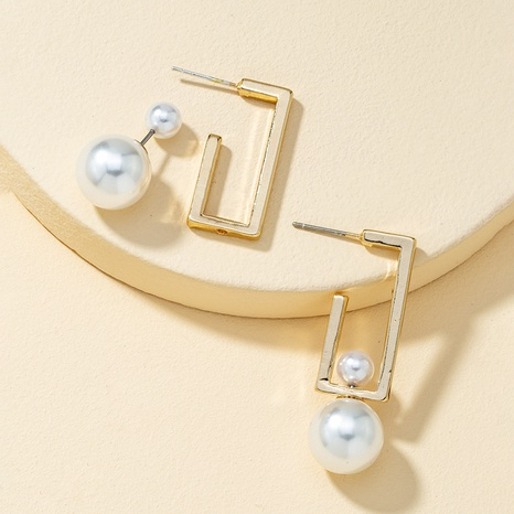 Rechteckige Ohrringe aus Retro-Perlen NHQJ316731's discount tags