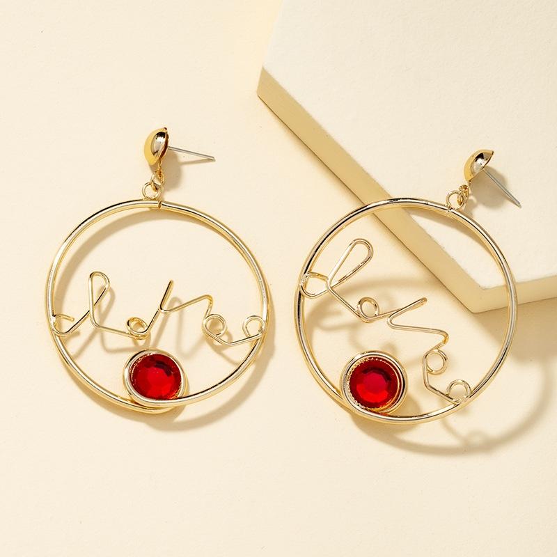 fashion simple diamond earrings  NHQJ316735