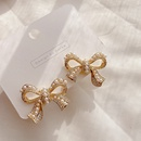 microinlaid pearl bow earrings NHHI316737