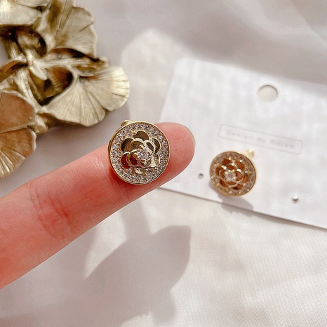 alloy retro flower earrings NHHI316739's discount tags