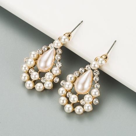 fashion water drop pearl earrings NHLN316742's discount tags
