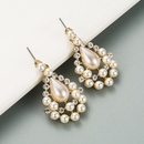 fashion water drop pearl earrings NHLN316742
