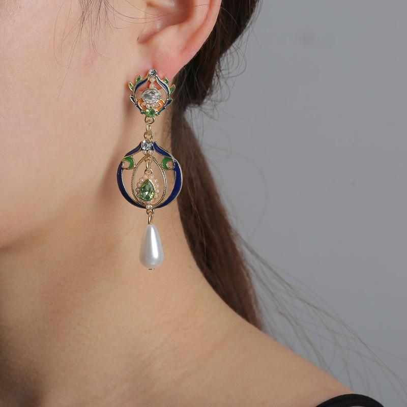 fashion pearl long earrings  NHLN316744