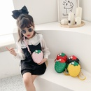 Korean childrens cute strawberry mini messenger bag NHAV316801