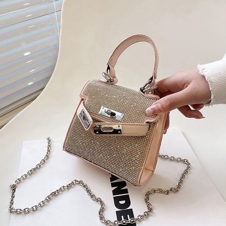new fashion diamond-studded mini square bag  NHLH316852's discount tags
