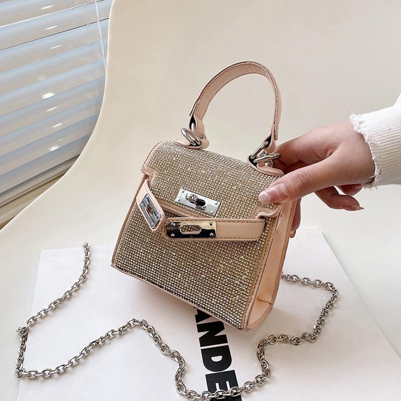 neue Mode mit Diamanten besetzte quadratische MiniTasche NHLH316852