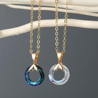 neue Modefarbe runde Kristallimitat Harz Halskette NHGO316862