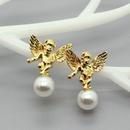 Korea simple Angel Statue Earrings NHGO316863