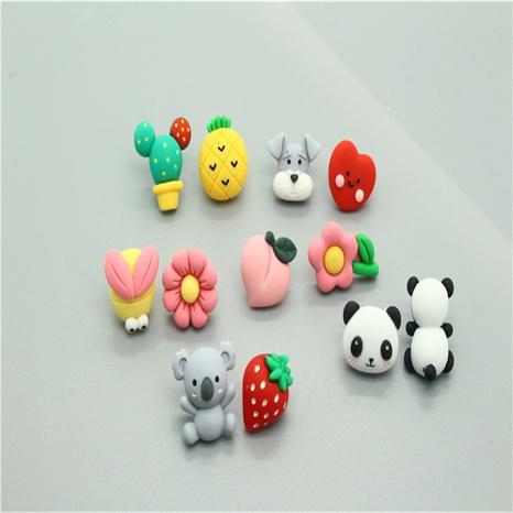Korean cute asymmetrical resin earrings  NHGO316865's discount tags
