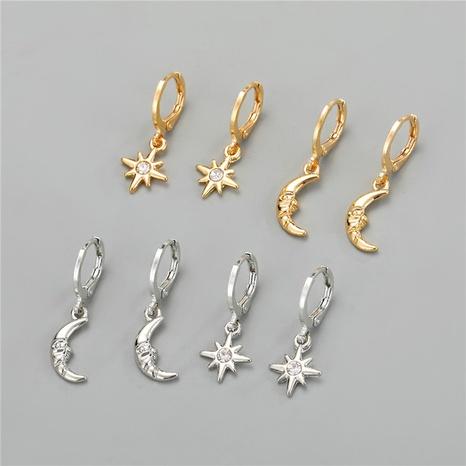 Korea simple cute rhinestone earrings  NHGO316869's discount tags